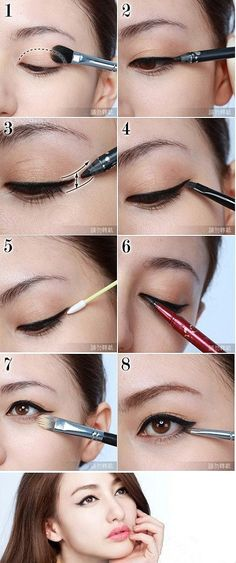 Not sure why I'm putting this in my style, but I've always wanted to know how to do this eye liner trick.  Looks pretty easy!