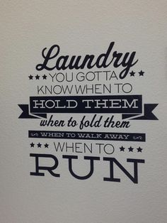 best laundry quote! added on with some fun vinyl!