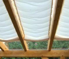 Glasdach-Sonnensegel «68x220 cm» Uni weiß, Faltsonnensegel