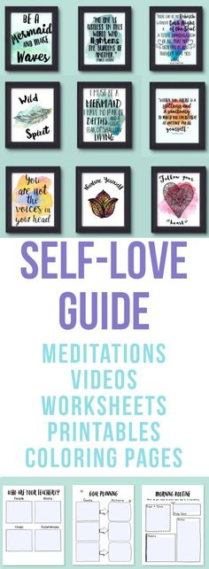If you want to be radical about your self love practices get the self love guide! It's perfect for helping you schedule time for self care!