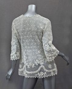 1920s Clothing at Vintage Textile: #2747 Irish lace jackethttp://www.vintagetextile.com/new_page_91.htm#