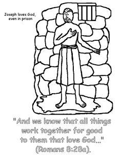 3 Joseph In Prison Coloring Page 1200x1600 Pixels