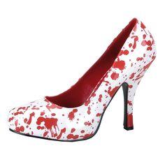 Zapatos ensangrentados para mujer. Disponibles en www.vegaoo.es