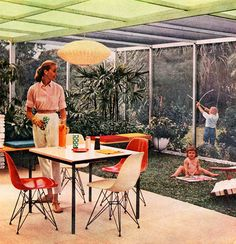 Modern Patio - 1957. We don't know why little Timmy grew up to be a serial killer ....