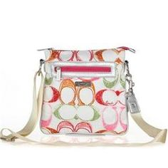 23cc1653b28d Coach Colorful Fashion Signature Small White Multi Crossbody Bags FEG Give  You The Best feeling!