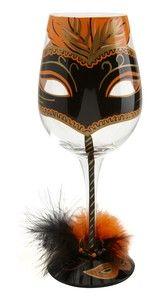 unusual glassware   Lolita Unique Wine Glasses Masquerade Mask Wine Glass Present   eBay