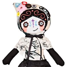 Hey, I found this really awesome Etsy listing at https://www.etsy.com/listing/212813487/catina-la-catrina-cloth-doll-18-38cm-rag