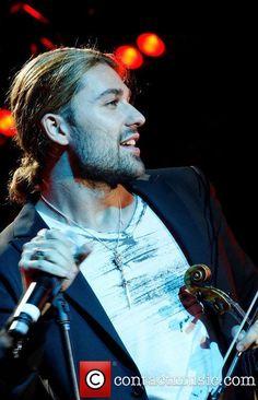 German Classical & Rock virtuoso violinist David Garrett performing at a private…