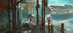 Haul - Harbor Underbelly, Lloyd Allan on ArtStation at https://www.artstation.com/artwork/VYOK4