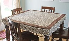 fitted square tablecloth