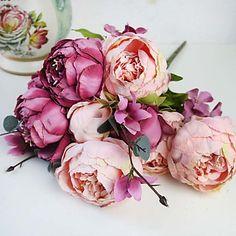 "18.9"" High Quality European Style Simulation Silk Peony Flower Wedding Decoration 1pc/set 5004926 2016 – £9.79"