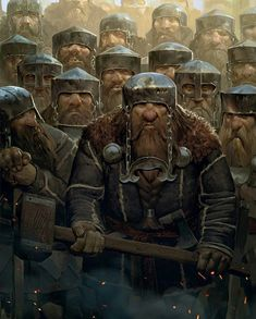 All about Vikings in Every Detail Fantasy Warrior, Fantasy Dwarf, Fantasy Rpg, Medieval Fantasy, Fantasy Artwork, Character Concept, Character Art, Concept Art, Character Design