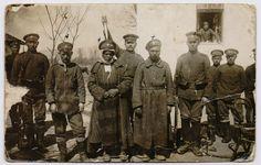 altes Foto 1. Weltkrieg BULGARIEN Bajonett Zigeuner GIPSY Albanien Mazedonien