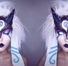 Kindred makeup :3 Lenses from @pinkyparadisedotcom  #PinkyParadise #kindred #leagueoflegends #cosplay #makeup by xandrastax