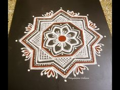 here is a video on how to draw a freehand kolam. You can try it on one of the Navarathri /Dussehra days.Its very simple and easy. Rangoli Borders, Rangoli Border Designs, Kolam Rangoli, Beautiful Rangoli Designs, Kolam Designs, Simple Rangoli, Padi Kolam, Gold Bangles, Drawings