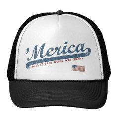 Vintage Team 'Merica Trucker Hats