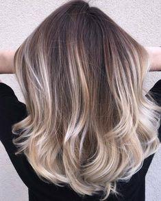 Balayage Long Hair, Platinum Blonde Balayage, Ash Brown Balayage, Bronde Balayage, Balayage Highlights, Ash Blonde Ombre Hair, Darker Blonde, Ash Hair, Grey Hair