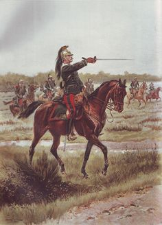 French Army 1900 Dragoon Officer by Édouard Detaille
