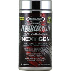 MuscleTech Next Gereration Hydroxycut Hardcore 180 caps | Regular Price: $109.99, Sale Price: $73.99 | OvernightSupplements.com | #onSale #supplements #specials #MuscleTech #WeightLoss  | Hydroxycut Hardcore Next GenNext Generation Weight Loss and Extreme Sensory Advanced Scientifically Tested Weight Loss Extreme Energy and Mental Focus Features Scutellaria Guayusa Coleus These statements have not been evaluated by the FDA This product is not intended to diagnose treat cure o