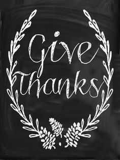 Ruffled Sunshine: Give Thanks Chalkboard print to download for free.