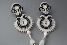 Soutache Ear Clips - Mystic Silhouette by BeadsRainbow, via Flickr