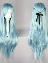 Synthetic None-lacewigs Fei-show Medium Wavy Wig Synthetic Heat Resistant Fiber Inclined Bang Cos-play Hair Costume Peruca Party Picture Color Hairpiece Exquisite Craftsmanship;