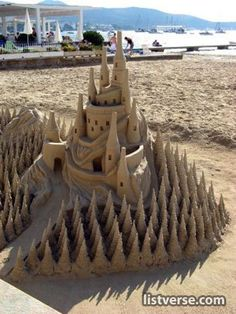 This is some really cool sand castles.