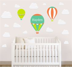Adorable Personalized & Removable Wall Decals from NameBubbles.com - Ballon Festival Wall Decal