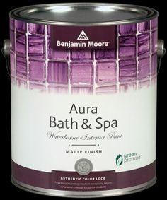 Matte finish in the Bathroom? YES! #BenjaminMoore #paint #bathroom #bath