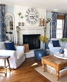 Farmhouse, Rustic & Vintage Decor – Decor Steals We are feeling the 𝐛𝐥𝐮𝐞𝐬 lately. And by blues, we mean this 𝘎𝘖𝘙𝘎𝘌𝘖𝘜𝘚 blue living area belonging to jenny !  Find home decor items to create your. Home Living Room, Living Room Designs, Living Area, Living Room Decor, Small Living, Cozy Living, Apartment Living, Modern Living, Cozy Apartment