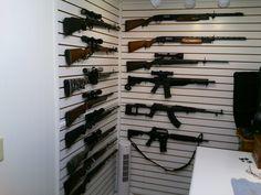 Gun vault room pic 3 of 9 - using Gun Cradles from Gun Storage Solutions