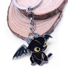Key Chain Hanging Pendant Dragon Shape Keyring Movie Product for Bag... ($1.50) ❤ liked on Polyvore featuring accessories, keychain key ring, fob key chain, ring key chain and key chain rings
