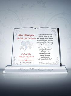 Silver Wedding Gift Husband : about Wedding Anniversary Gifts on Pinterest Anniversaries, Wedding ...