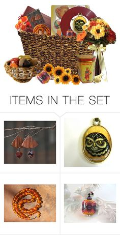 """Basket of Autumn Finds"" by alidishu ❤ liked on Polyvore featuring art"
