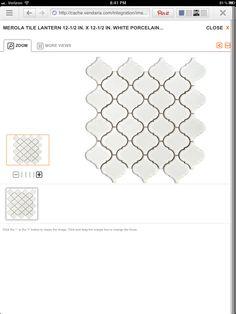 White lantern tiles