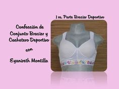 Learn how to make a Sports Bra with a cup. - My Fashion World - Sewing Courses Sewing Courses, Sewing Crafts, Sewing Patterns, Underwear, Lingerie, Couture, My Style, Crochet, Bikinis