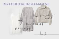 Outfit formula for winter + fall layering