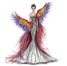 Scarlet Macaw gown
