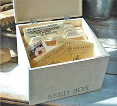 I need this to organise my seeds! Sewing season is coming around so, so quickly... eep... must get in to the garden!