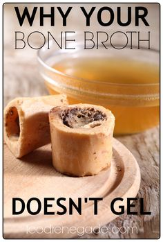 Why Your Bone Broth Doesn't Gel  -- You may be surprised! #food #broth