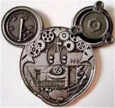 Mechanical Characters Gears Mickey Mouse Robot Face Head New Disney Pin Mint | eBay