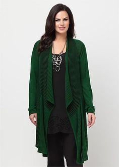 Big Sizes Womens Clothing | Clothes for Larger Size Women - PLATED DRAPE CARDY - TS14