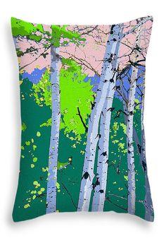 """AspensInColor Green Throw Pillow 20"""" x 14"""""""
