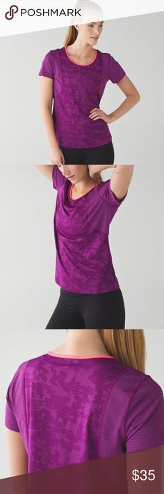 """Lululemon Run For Days Short Sleeve Why we made this Wear, run, repeat. We designed this shirt with special anti-stink technology so that we can wear it multiple times before washing - legitimately removing """"laundry pile"""" from our list of workout excuses.  Great condition lululemon athletica Tops Tees - Short Sleeve"""