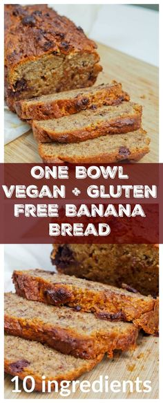 Hate to clean up a mess when baking? No such problem here. Only ONE bowl needed for this vegan + gluten free banana bread with dark chocolate chips. A super moist and light banana bread recipe with just a hint of sweetness and rich chocolately flavor. |av