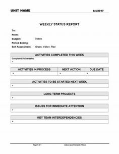 Project Status Report Template Free Downloads   Samples