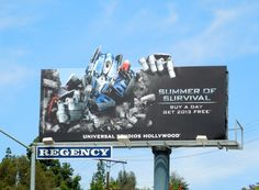 Transformers Summer of Survival Universal Studios Hollywood billboard
