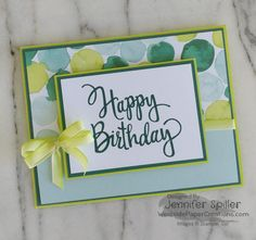 There is a wonderful little stamp in the Annual Catalog that is very easy to over look. This stamp is a single wood mount stamp that says Happy Birthday! The wonderful script oc the stamp makes it one of my favorites in the catalog! Stylized Birthday stamp set is perfect for all your birthday card!!! …