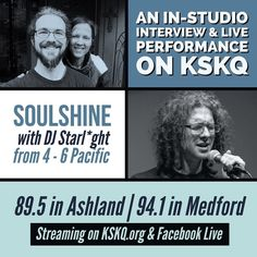 Join Nikita & I on #Soulshine with DJ StarLght as we celebrate the 1-month anniversary of the release Monks on Main Street our forthcoming tour and what's next!  In addition I will be performing songs live in-studio.  Show starts at 4pm we go on at 4:30pm Pacific!  We will be live on KSKQ.org as well as live streaming on my Facebook Page!  See you in the stream!  #MonksOnMainStreet #OnTheRadio #Music #Consciousness #LiveInterview #LivePerformance