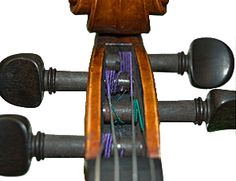 Properly wound violin strings to prevent pegs slipping